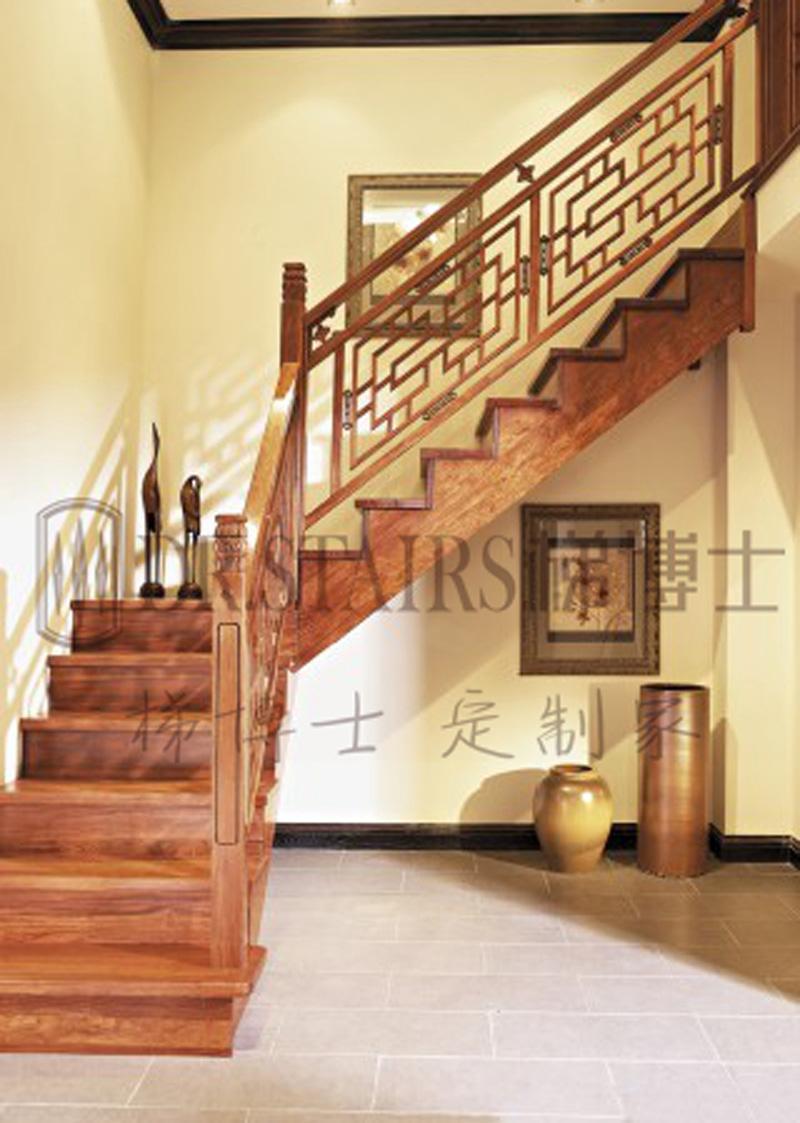 风格  新中式高端实木楼梯